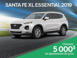 5 000$ en ajustement de prix pour le Santa Fe XL Essential 2019 chez Hyundai Trois-Rivières à Trois-Rivières