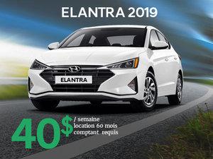 Seulement 40$/semaine pour une Hyundai Elantra 2019 chez Hyundai Trois-Rivières à Trois-Rivières