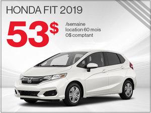 Une Honda Fit 2019 pour 53$ par semaine chez Avantage Honda à Shawinigan