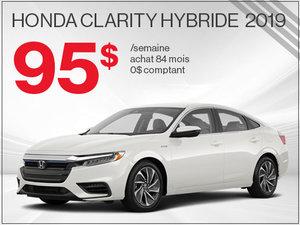 95$ par semaine pour la Honda Clarity HYBRIDE 2019 chez Avantage Honda à Shawinigan