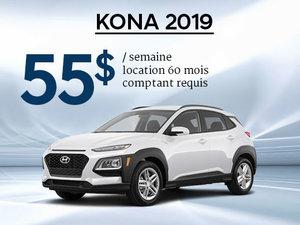 Seulement 55$/semaine pour un Hyundai Kona 2019 chez Hyundai Trois-Rivières à Trois-Rivières