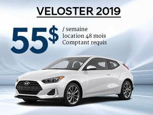 Seulement 55$ par semaine pour le Hyundai Veloster 2019 chez Hyundai Trois-Rivières à Trois-Rivières