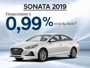0,99% d'intérêt pour la Hyundai Sonata 2019 chez Hyundai Trois-Rivières à Trois-Rivières