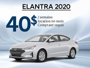 Seulement 40$/semaine pour une Hyundai Elantra 2020 chez Hyundai Trois-Rivières à Trois-Rivières