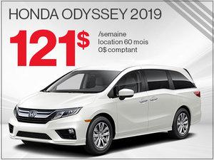 121$ par semaine pour louer la Honda Odyssey 2019 chez Avantage Honda à Shawinigan