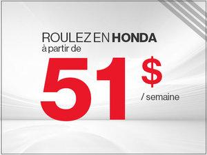 Roulez en Honda à partir de 51$ par semaine chez Avantage Honda à Shawinigan