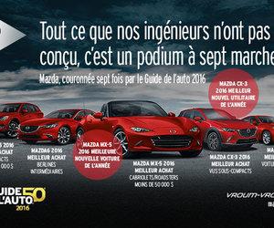 Mazda couronnée 7 fois par le Guide de l'Auto!