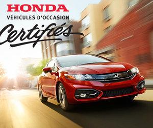 Découvrez les avantages des véhicules d'occasion certifiés Honda!