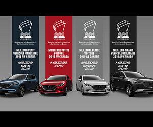 La passion pour la qualité et la rigueur triomphent : Mazda remporte trois grands prix de l'AJAC.