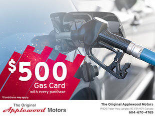 Get a $500 Gas Card With Every Purchase!