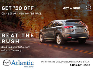 Get $50 Off a Set of 4 New Winter Tires