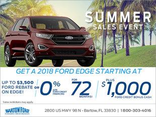 Get a 2018 Ford Edge!
