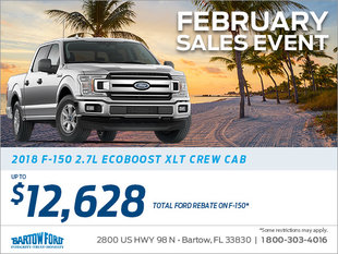 Get a brand new 2018 F-150 truck today!