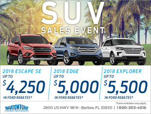 Get a 2018 Ford SUV Today!