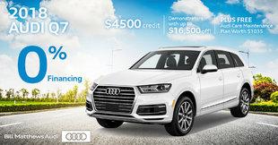 2018 Audi Q7 Sell Off