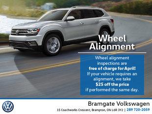 April Wheel Alignment Special