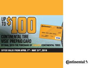 Continental - Spring 2019 Rebate