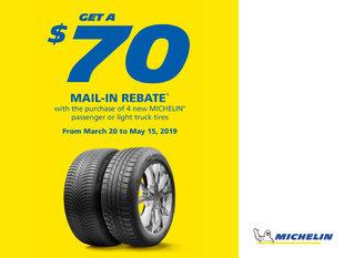 Michelin - Spring 2019 Rebate