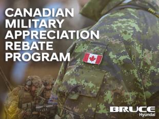 Canadian Military Appreciation Rebate Program