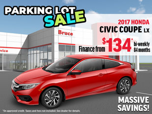 Parking Lot Sale - 2017 Honda Civic Coupe