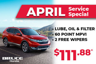 April Special on Lube and Oil, 60 Point MVI and Wipers