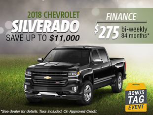 Finance the 2018 Chevrolet Silverado