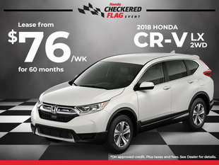Lease the Honda CR-V LX 2WD for $76 Weekly