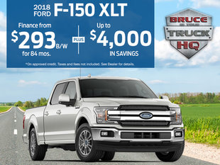 Save up to $4,000 on the 2018 F-150 XLT