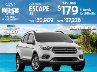 Lease the 2018 Ford Escape SE and Save During Ford Employee Pricing