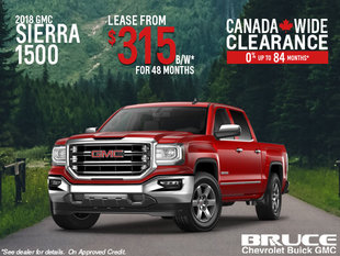 Lease the 2018 Sierra 1500 SLE