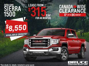 Lease the 2018 Sierra 1500 SLE