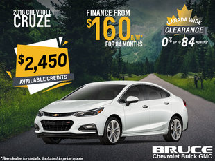 Finance the 2018 Chevrolet Cruze