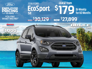 Lease the 2018 Ford EcoSport SE and save with Employee Pricing!