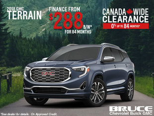 Finance the 2018 GMC Terrain