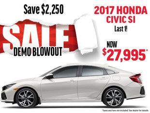 DEMO BLOWOUT 2017 Honda Civic SI