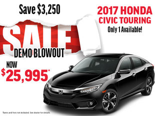 DEMO BLOWOUT 2017 Honda Civic Touring