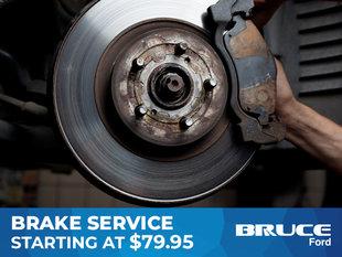 Brake Service Starting at $79.95