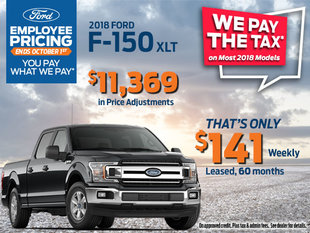 Lease the 2018 Ford F-150 XLT - Get Employee Pricing & Qualify for Additional Savings