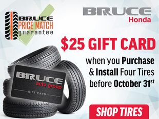 Purchase and Install 4 Tires, Get a $25 Gift Card!