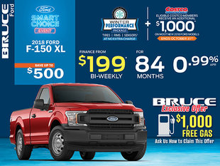 Get the 2018 Ford F-150 XL for Just $199 Bi-Weekly