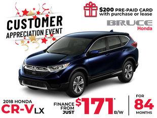Finance the Honda CR-V LX 2WD for $171 Bi-Weekly
