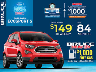 Finance the Ford EcoSport S for Just $149 Bi-Weekly
