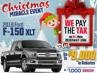 SAVE THE TAX on all New In-Stock 2018 F-150s