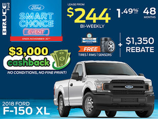 Lease the 2018 Ford F-150 XL for Just $244 Bi-Weekly