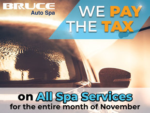 We PAY the TAX on all Auto Spa Services!