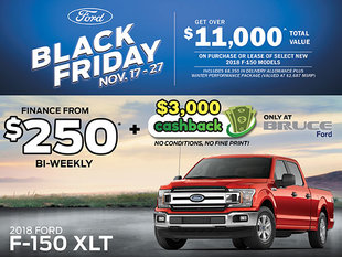 Save up to $11,000 on 2018 Ford F-150 XLT