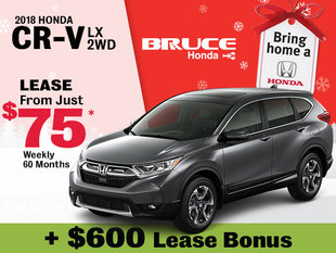 Bring Home a 2018 Honda CR-V LX 2WD for Just $75 Weekly