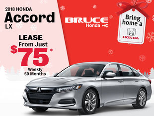 Bring Home a 2018 Honda Accord LX for Just $75 Weekly