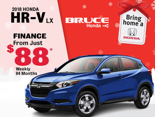Finance the 2018 Honda HR-V LX for $88 Weekly
