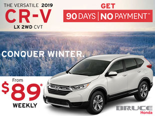 90 Days, No Payment on the 2019 Honda CR-V LX 2WD